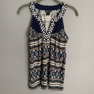 XS Lucky Brand Sleeveless Top with Embroidery
